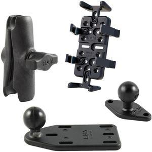 RAM Mounts univerzální držák na mobilní telefony, vysílačky, GPS navigace Finger-Grip na motorku na nádržku brzdové kapaliny, sestava RAM-B-183-UN4U