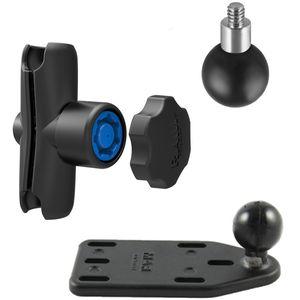 RAM Mounts držák pro malé kamery a fotoaparáty s ramenem se zabezpečením na motorku na nádržku brzdové kapaliny, sestava RAM-B-183-237-KNOB3U