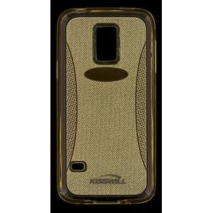 Kisswill TPU Shine pouzdro pro Samsung G800 Galaxy S5mini, zlaté