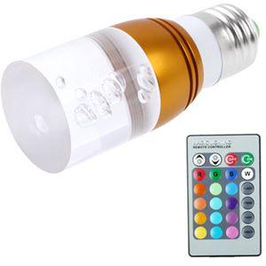Barevná LED žárovka s dálkovým ovládáním