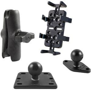 RAM Mounts univerzální držák na mobilní telefony, vysílačky, GPS navigace Finger-Grip na motorku na nádržku brzdové kapaliny, sestava RAM-B-182-UN4U