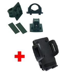 Univerzální držák na kolo na řídítka pro uchycení telefonu, sada SH - bez kloubu, 37-59mm