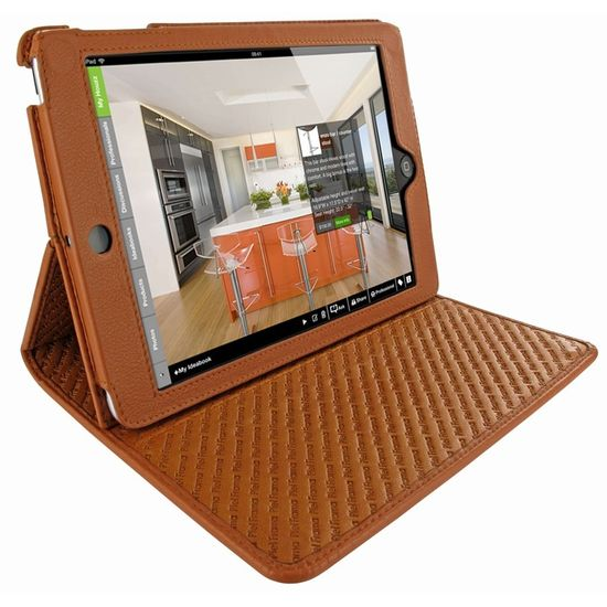 Piel Frama pouzdro pro iPad Mini Cinema Model, Tan