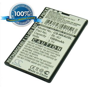 Baterie (ekv. BL-4U) pro Nokia Asha 300, C5-03, E75, E66, 8800, 6600s, Li-ion 3,7V 1000mAh