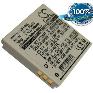 Baterie NB-4L pro Canon Ixus 130,Ixy Digital 50, 60, 70, 850mAh