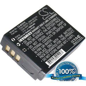 Baterie (ekv. CGA-S007E) pro Panasonic DMC TZ1, TZ2, TZ3, TZ4, TZ5, Li-ion 3,7V 1000mAh