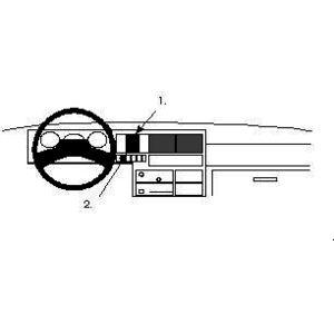 Brodit ProClip montážní konzole pro Volkswagen T4 Transporter/Pickup 91-95, na střed