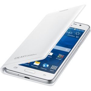 Samsung flipové pouzdro s kapsou EF-WG530BW pro Galaxy Grand Prime, bílé