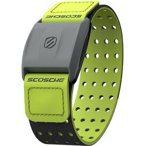 Scosche RHYTHM+ měřič tepu a sporttester pro Android a iOS na předloktí, HR monitor, zelený pásek