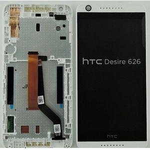 Náhradní díl LCD Display + dotyková deska + přední kryt pro HTC Desire 626 bílý