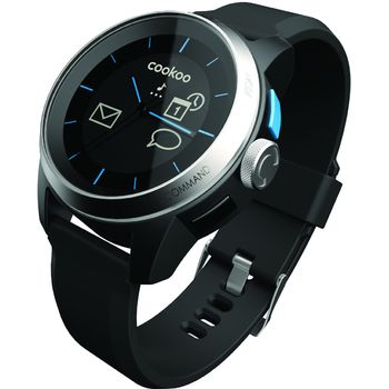 Cookoo watch - Bluetooth 4.0 hodinky pro iOS erno-stbrn