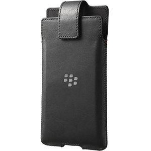 Blackberry kožené pouzdro s otočným klipem pro Blackberry Priv, černé