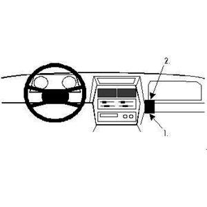 Brodit ProClip montážní konzole pro Suzuki Vitara 89-95, vpravo