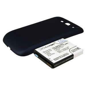 Baterie pro Samsung Galaxy S III, S III Neo 3300mAh, Li-ion, rozšířená, včetně krytu Pebble blue