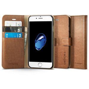 Spigen flipové pouzdro Wallet S pro iPhone 7, hnědá