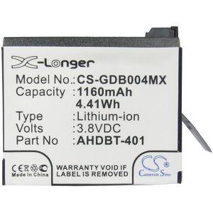 Baterie pro GoPro Hero 4 1160mAh Li-ion