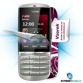 Fólie ScreenShield Nokia Asha 300 - displej+voucher na skin