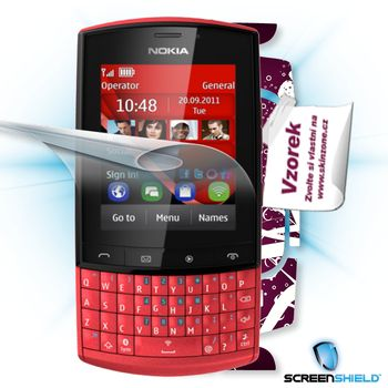Fólie ScreenShield Nokia Asha 303 - displej+voucher na skin