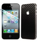 Fólie ScreenShield Apple - iPhone 4S displej+carbon černý