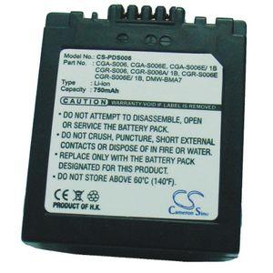 Baterie (ekv. CGR-S006) pro Panasonic Lumix, FZ30, Li-ion 7,4V 750mAh