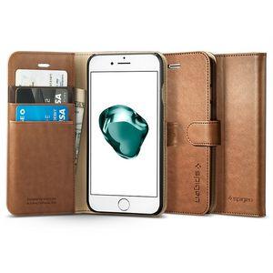 Spigen flipové pouzdro Wallet S pro iPhone 7 plus, hnědá