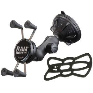 RAM Mounts univerzální držák na mobil do auta s přísavkou na sklo, X-Grip, odlehčené rameno, sestava RAP-B-166-2-UN7U