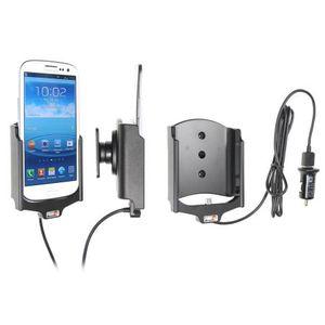 Brodit držák do auta na Samsung Galaxy S III i9300 bez pouzdra, s nabíjením z cig. zapalovače/USB