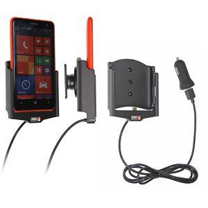 Brodit držák do auta na Nokia Lumia 625 bez pouzdra, s nabíjením z cig. zapalovače/USB