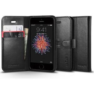 Spigen pouzdro Wallet S pro iPhone SE/5s/5, černá