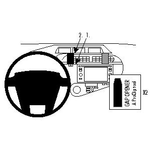 Brodit ProClip montážní konzole pro Toyota Prius c 12-17