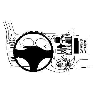 Brodit ProClip montážní konzole pro Nissan Versa Sedan 12-17