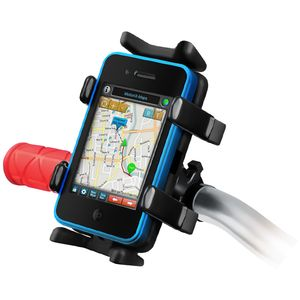 RAM Mounts univerzální držák na mobilní telefony, vysílačky, GPS navigace Finger-Grip s úchytem na kolo na řídítka, sestava RAP-274-1-UN4U