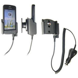 Brodit držák do auta na Nokia C5-03 bez pouzdra, s nabíjením z cig. zapalovače