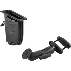 """RAM Mounts univerzální držák s pojistkou na ruční čtečky čárových kódů na vysokozdvižné vozíky s úchytem pro hranatý profil 0-50 mm s 1,5"""" čepem, sestava RAM-247-2-317-U"""