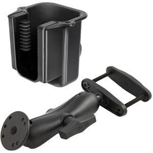 """RAM Mounts držák na ruční čtečky čárových kódů na vysokozdvižné vozíky s úchytem pro hranatý profil 0-76 mm s 1,5"""" čepem, sestava RAM-247-3-396-U"""