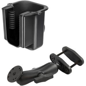 """RAM Mounts držák na ruční čtečky čárových kódů na vysokozdvižné vozíky s úchytem pro hranatý profil 0-63 mm s 1,5"""" čepem, sestava RAM-247-25-396-U"""