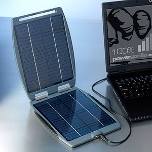Solargorilla - solární záložní nabíječka pro notebooky / telefony / GPS / MP3