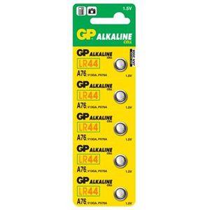GP A76, knoflíková alkalická baterie kompatibilní s AG13, LR44