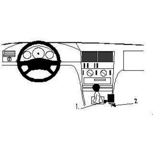 Brodit ProClip montážní konzole pro Mercedes Benz C-Class (180-320) 94-00,s třed. tunel