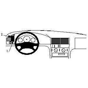 Brodit ProClip montážní konzole pro Mercedes Benz C-Class (180-320) 93-99, vlevo