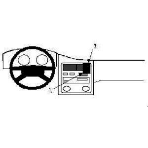Brodit ProClip montážní konzole pro Toyota Carina 92-00, na střed