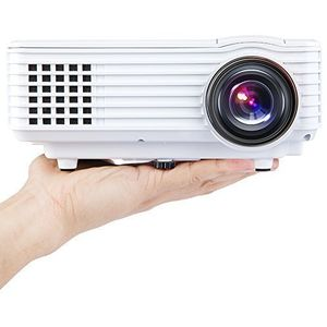 LED mini projektor 800x480px, bílá