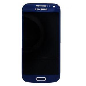 Náhradní díl LCD displej s dotykovou vrstvou + pčední kryt pro Samsung i9195 Galaxy S4 Mini, modrá