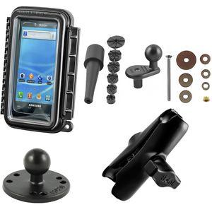 RAM Mounts vodotěsný držák na mobilní telefon na motorku na řídítka do středu vidlice, AQUABOX™ malý, sestava RAM-B-176-AQ3U