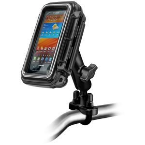 RAM Mounts vodotěsný držák na mobilní telefon na motorku nebo kolo na řídítka Ø objímky 12,7-31,75 mm, , AQUABOX™ střední, sestava RAM-B-149Z-AQ2U