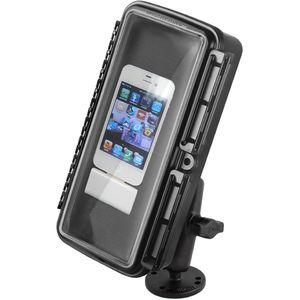 RAM Mounts vodotěsný držák na mobilní telefon na bort kajaku, skútr atd. na šroubky nebo vruty, AMPS, AQUABOX™ velký, sestava RAM-B-138-AQ1U