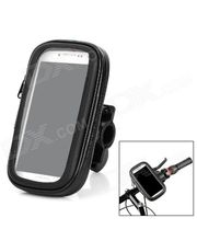 """Držák na mobilní telefon na řídítka voděodolný univerzální pro 4""""-5"""" telefony, 203280, černý"""