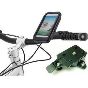 Voděodolný držák na motorku na Samsung Galaxy S4 se záložním akumulátorem 2800mAh s adaptérem pro RAM