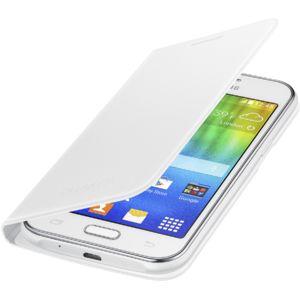 Samsung flipové pouzdro EF-FJ100BW pro Galaxy J1, bílá