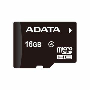 Adata microSDHC 16GB Class 4 paměťová karta + adaptér SDHC